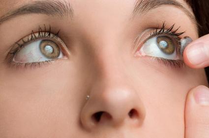 Nyligen köpta kontaktlinser
